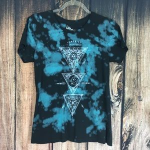 Imperial motion Black and Blue Tie Dye Shirt